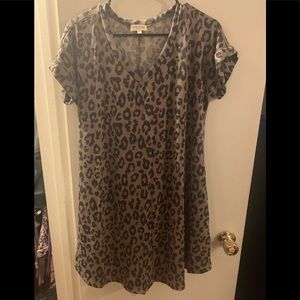 Brand New! Leopard Print Dress with Pockets